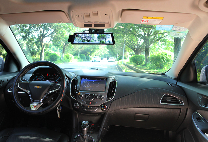 Honda Passport Installed with Rearview Mirror Monitor and DVR