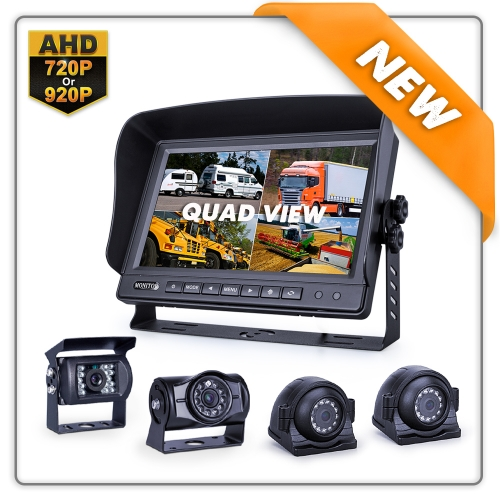 "10.1"" HD Rearview Monitor with Quad View"