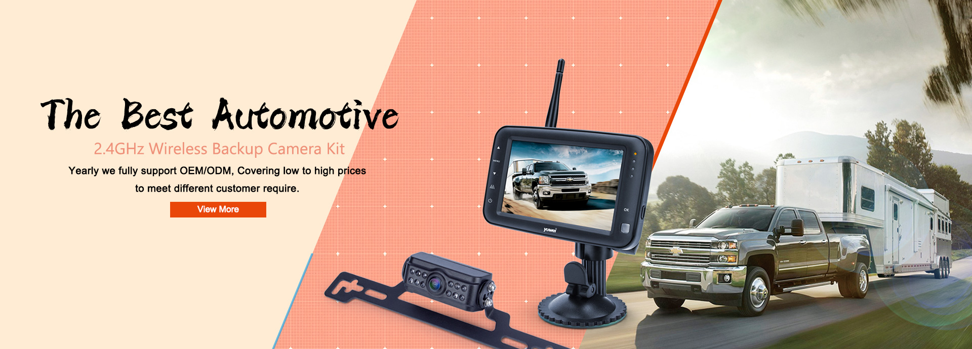 Automotive 2.4GHz Digital Wireless Backup Camera Kit