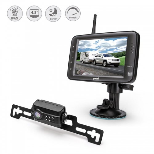 4.3 inch 2.4GHz automotive wireless backup camera kit