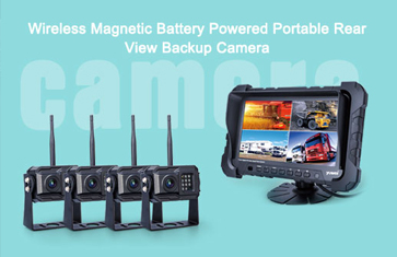 Wireless Magnetic Battery Powered Portable Rear View Backup Camera