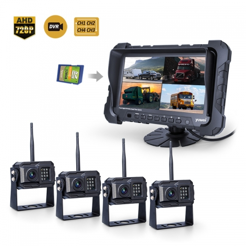 7inch 2.4GHz 720P HD Wireless Backup Camera System