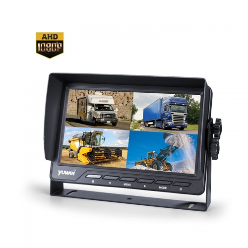 "7"" HD Rearview Monitor with Quad View"