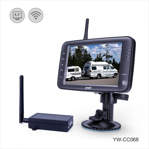 "WIRELESS BACKUP CAMERA SYSTEM WITH 4.3"" TFT LCD STANDALONE MONITOR"