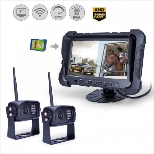 7 inch 2.4GHz Digital wireless rear view monitor | Split View Screen