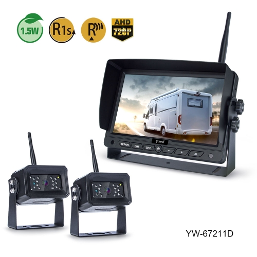 CE/EMARK Approved 7 Inch HD 720P Digital Wireless Backup Camera System